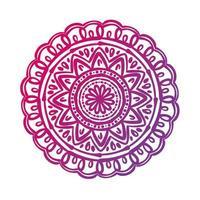 ícone de estilo de silhueta floral de mandala circular rosa