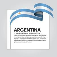 fita da bandeira da onda abstrata da argentina
