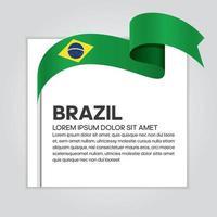 fita da bandeira da onda abstrata do brasil vetor