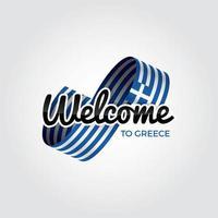 bem vindo a Grecia vetor