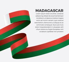 fita da bandeira da onda abstrata de madagascar vetor