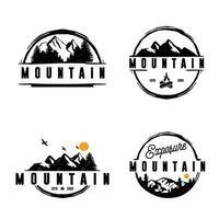 mount bundle logo template premium vetor