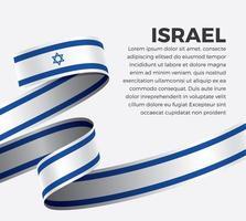 fita bandeira onda abstrata israel vetor