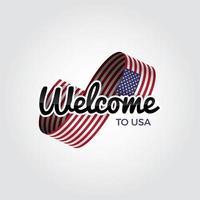 bem vindo aos EUA vetor