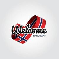 bem vindo a noruega vetor