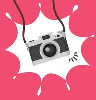 pendurar câmera em um conceito de estilo simples