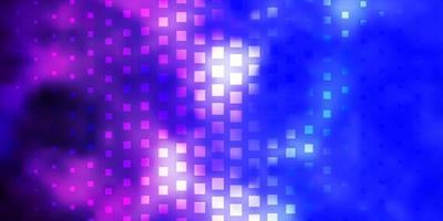 padrão de vetor rosa claro, azul em estilo quadrado