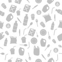 diga não ao padrão uniforme da campanha de conscientização de plástico