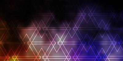 padrão de vetor rosa e amarelo escuro com estilo poligonal.