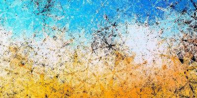 textura vector azul escuro e amarelo com discos.