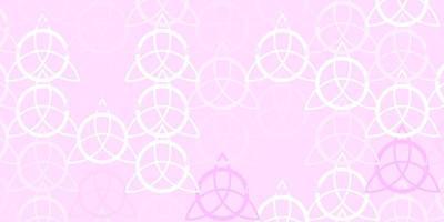 modelo de vetor rosa claro com sinais esotéricos.