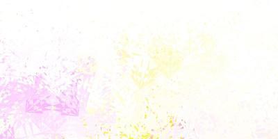 layout de vetor rosa claro e amarelo com formas triangulares.