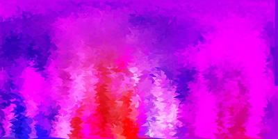cenário de triângulo abstrato luz multicolor vetor.
