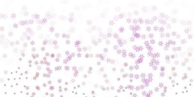 layout abstrato de vetor rosa claro com folhas.