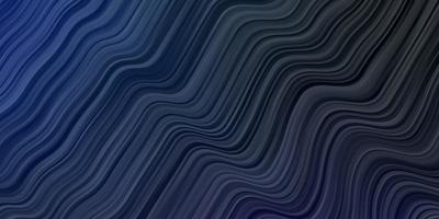 pano de fundo vector azul escuro com linhas dobradas