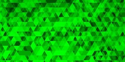 textura vector verde clara com linhas, triângulos.