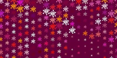 textura vector rosa claro, vermelho com símbolos de doença.