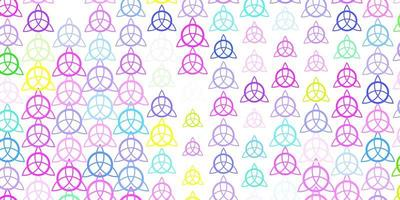 luz de fundo multicolor vector com símbolos de mistério.
