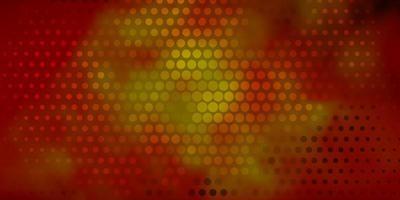 modelo de vetor laranja escuro com círculos