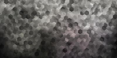 layout de vetor cinza claro com formas de hexágonos.