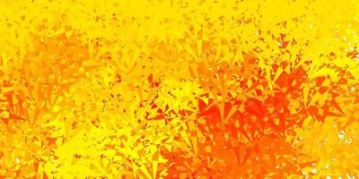 pano de fundo vector laranja claro com triângulos, linhas.