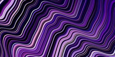 textura vector roxo claro com linhas curvas.