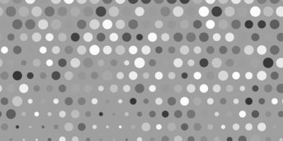 textura de vetor cinza claro com discos.
