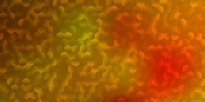 layout de vetor amarelo escuro com formas de hexágonos.