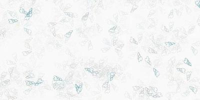 arte abstrata do vetor cinza claro com folhas.