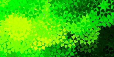 layout de vetor verde claro e amarelo com formas triangulares.