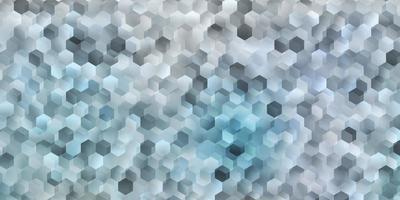 pano de fundo vector roxo claro com um lote de hexágonos.