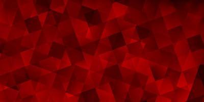 padrão de vetor vermelho escuro com estilo poligonal com cubos.