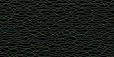 padrão de vetor verde escuro com linhas irônicas.