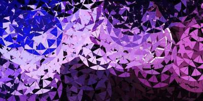 padrão de vetor roxo claro com formas poligonais.