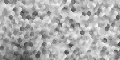padrão de vetor cinza claro com hexágonos.