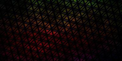 modelo de vetor verde escuro e vermelho com cristais, triângulos.