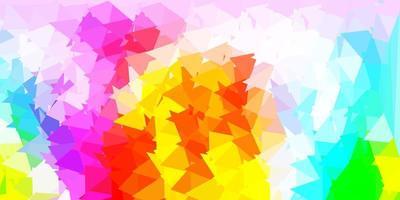 textura de triângulo poli luz multicolor vetor. vetor