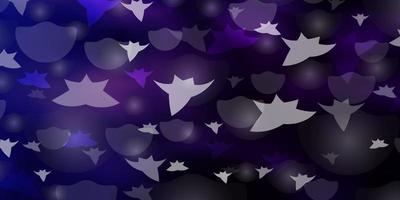 textura vector rosa escuro, azul com círculos, estrelas.