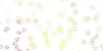 layout abstrato de vetor laranja claro com folhas.