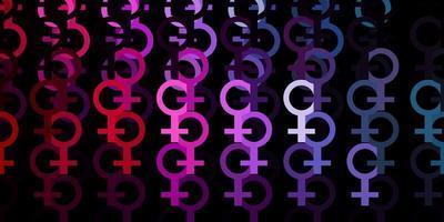 padrão de vetor rosa claro verde com elementos do feminismo.