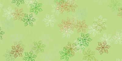 arte natural do vetor verde e amarelo claro com flores.