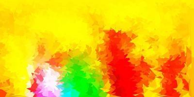modelo de triângulo poli luz multicolor vetor.