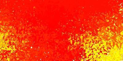 textura vector laranja claro com triângulos aleatórios.