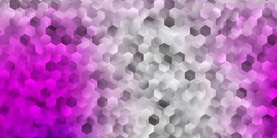 pano de fundo vector rosa claro com um lote de hexágonos.