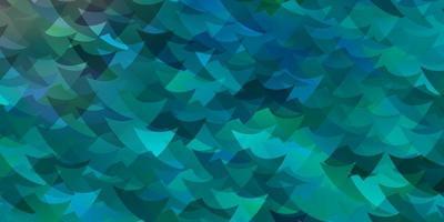 layout de vetor de azul claro com retângulos, triângulos.