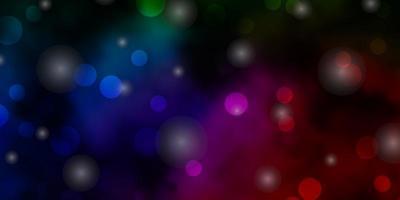 fundo vector rosa escuro, verde com círculos, estrelas.