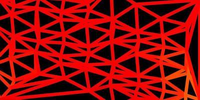 desenho de polígono gradiente de vetor laranja claro.