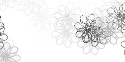layout natural do vetor cinza claro com flores.