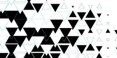 layout de vetor azul escuro e verde com linhas, triângulos