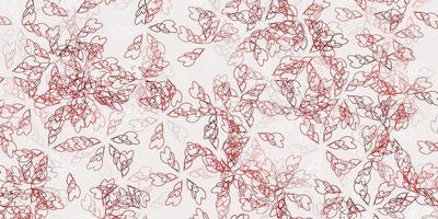 fundo abstrato do vetor vermelho claro com folhas.